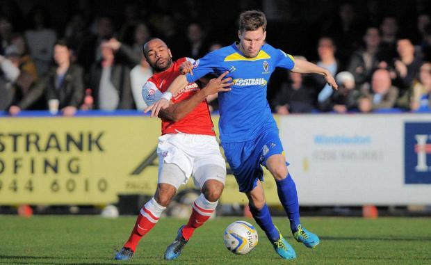 Off: Charlie Sheringham has been released by AFC Wimbledon            Picture: David Purday