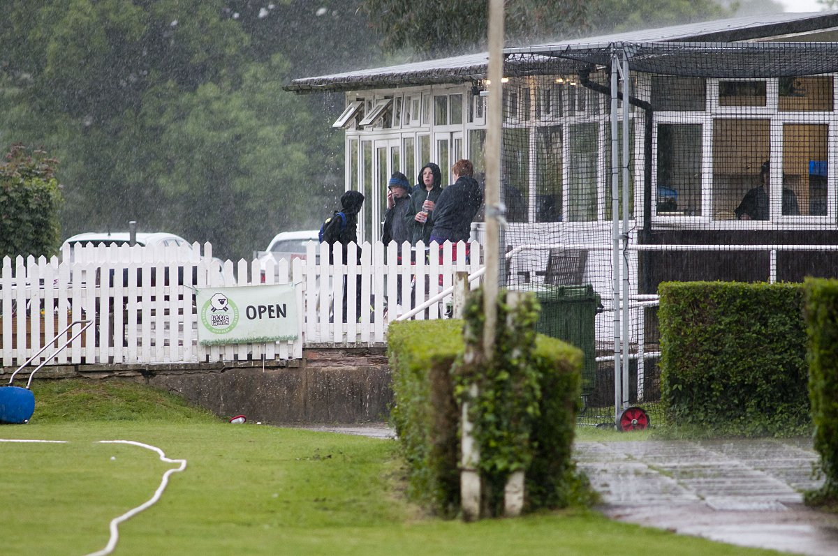 Rained off: Saturday's rain accounted for ex