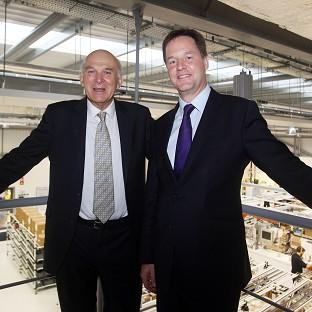 Vince Cable and Nick Clegg tried to show they were at ease in each other's company