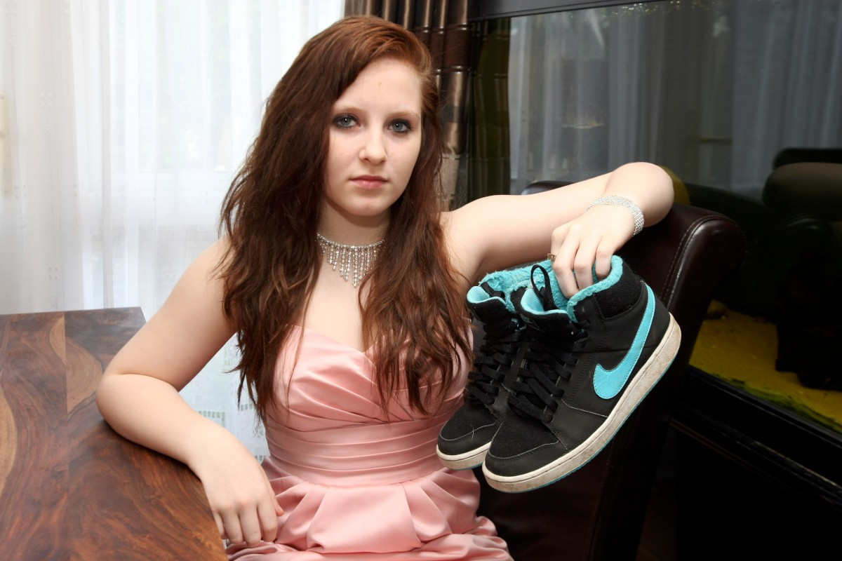 Going to the ball? Laura, 16, has been banned from her prom
