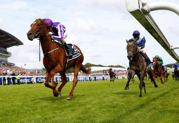 Australia and Kingston Hill in the Investec Derby. Photo: racingfotos.com