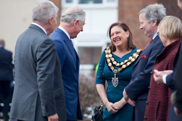 Fantastic year: Among many highlights for Meena Bond was meeting Prince Charles