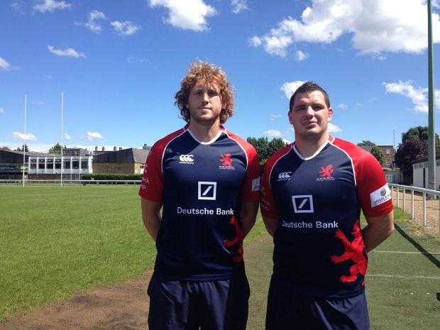 Moving in: Josh Thomas Brown and James Phillips get used to their new surroundings at London Scottish