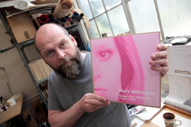 Michael Curran with a copy of the vinyl
