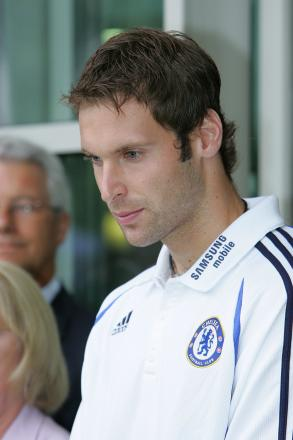 Ready for combat: Chelsea keeper Petr Cech