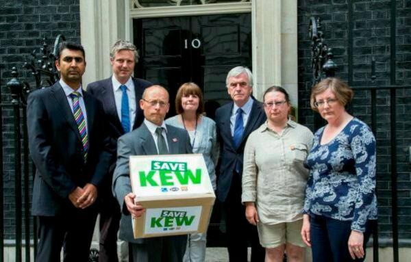 Kew Gardens: Supporters previously handed a petition in at No10