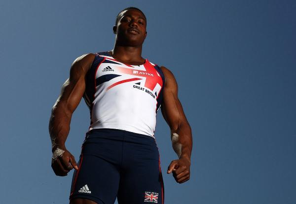 Ready: Harry Aikines-Aryeetey goes in the 100m heats today (Sunday)