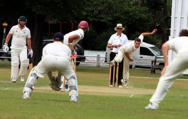 Pace-man: Teddington's Ben Ladd-Gibbon now has 26 wickets from his first full season at Teddington                       SP81912