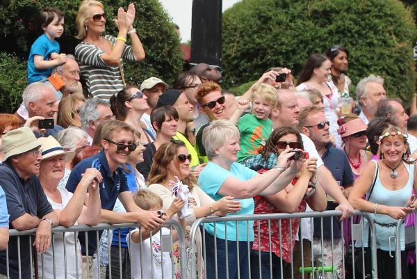 Spectators at RideLondon
