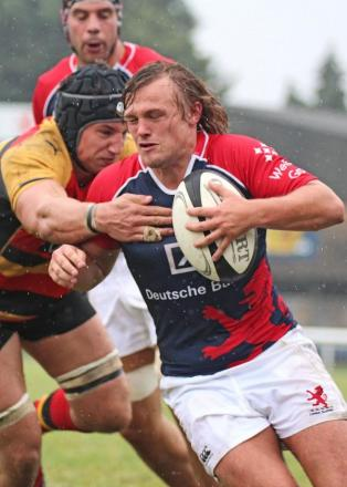 Leader: Young scrum half Sam Stuart – pictured playing for London Scottish in a friendly last season summer - captained the Quins sevens team at Twickenham over the weekend