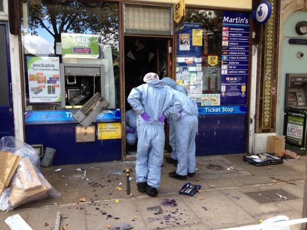 Raid: A cash point was taken