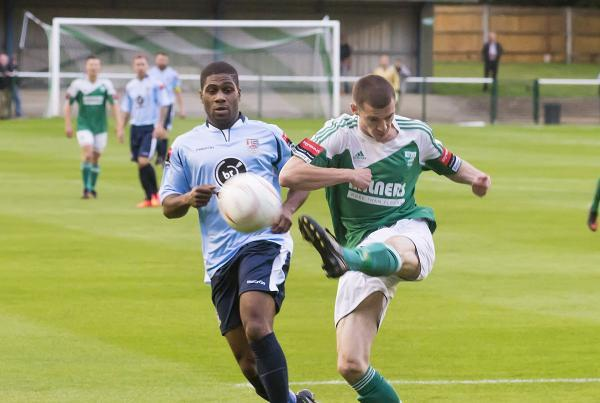 Front runner: Andre McCollin in action against Leatherhead