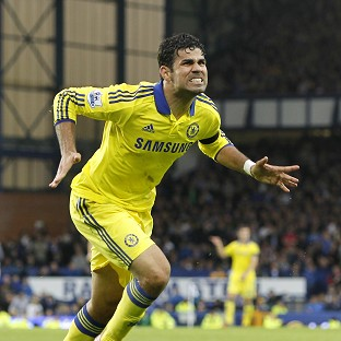 Goalscorer Diego Costa is happy to lead Chelsea's early-season charge