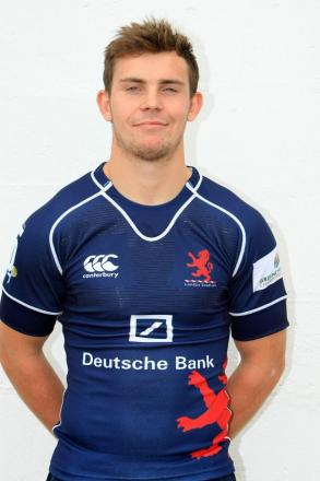 Fit again: London Scottish scrum half Jamie Stevenson