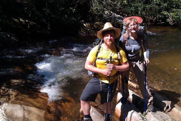 Couple trek along Appalachian Trail in USA for Princess Alice Hospice