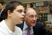 New facilities: Michael Howard at an earlier visit to Clarendon School