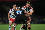 Leading man: Quins flanker Chris Robshaw completed his club duties on the front foot before England's autumn internationals, which start with the All Blacks on Saturday