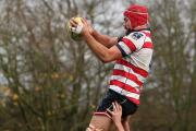 Reaching new heights: Rosslyn Park's Will Bowley gets a lift up in the 36-7 win at Macclesfield on Saturday – one day the club will hit the heights of turning professional, but MD Shaun Justice wants to make sure they do it right        Picture: D Whi