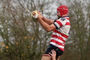 King of the lineout: Will Bowley collects possession for Rosslyn Park                All Pictures: David Whittam