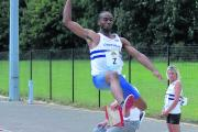 From outdoor to indoor: Paul Ogun led the Croydon Harriers charge at the British Indoor Championships in Sheffield