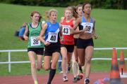 Getting close: Phoebe Law, number 40, just missed out on English cross country gold