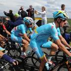 Richmond and Twickenham Times: Vincenzo Nibali, centre, has been left in limbo