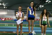 Silver lining: Kingston & Polytechnic Harrier Pippa Earley, left, collects her pentathlon silver medal