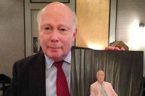 Julian Fellowes: Was mighty pleased with his portrait