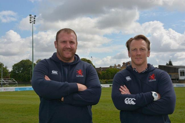 New boys: Scottish appointed Tim Payne, left, and Peter Richards last week