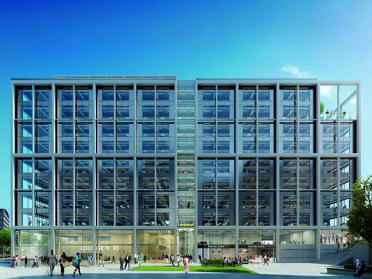 Works are underway for office blocks in Ruskin Square
