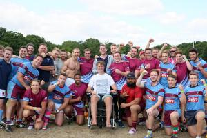 PICTURES: Rugby sevens tournament supports Wimbledon player left paralysed after getting crushed in a scrum