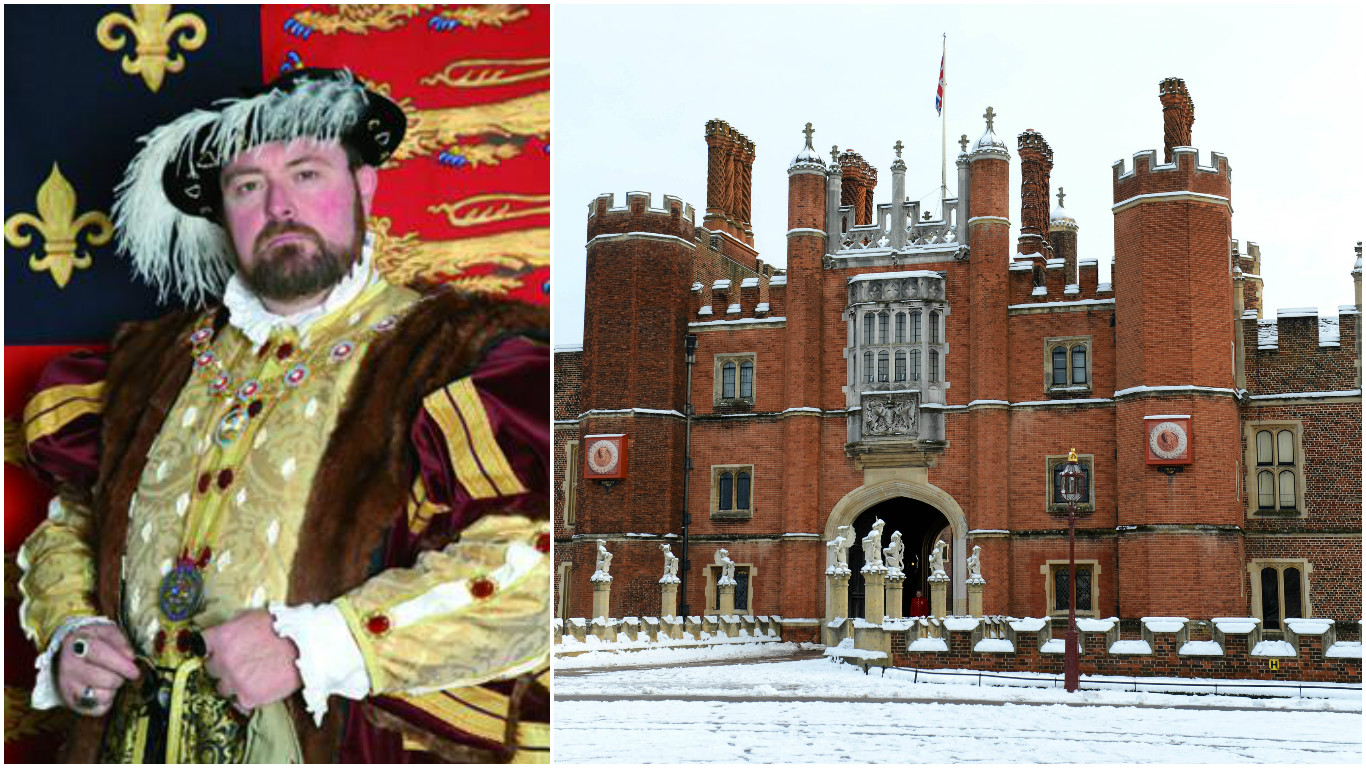 King Henry VIII (impersonator) and Hampton Court Palace
