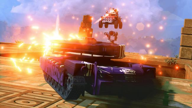 Vehicle combat game Hardware: Rivals is out now on PS4 and available on PlayStation Plus in January