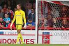 Error of judgement: Brentford keeper David Button's second half mistake against Middlesbrough proved costly