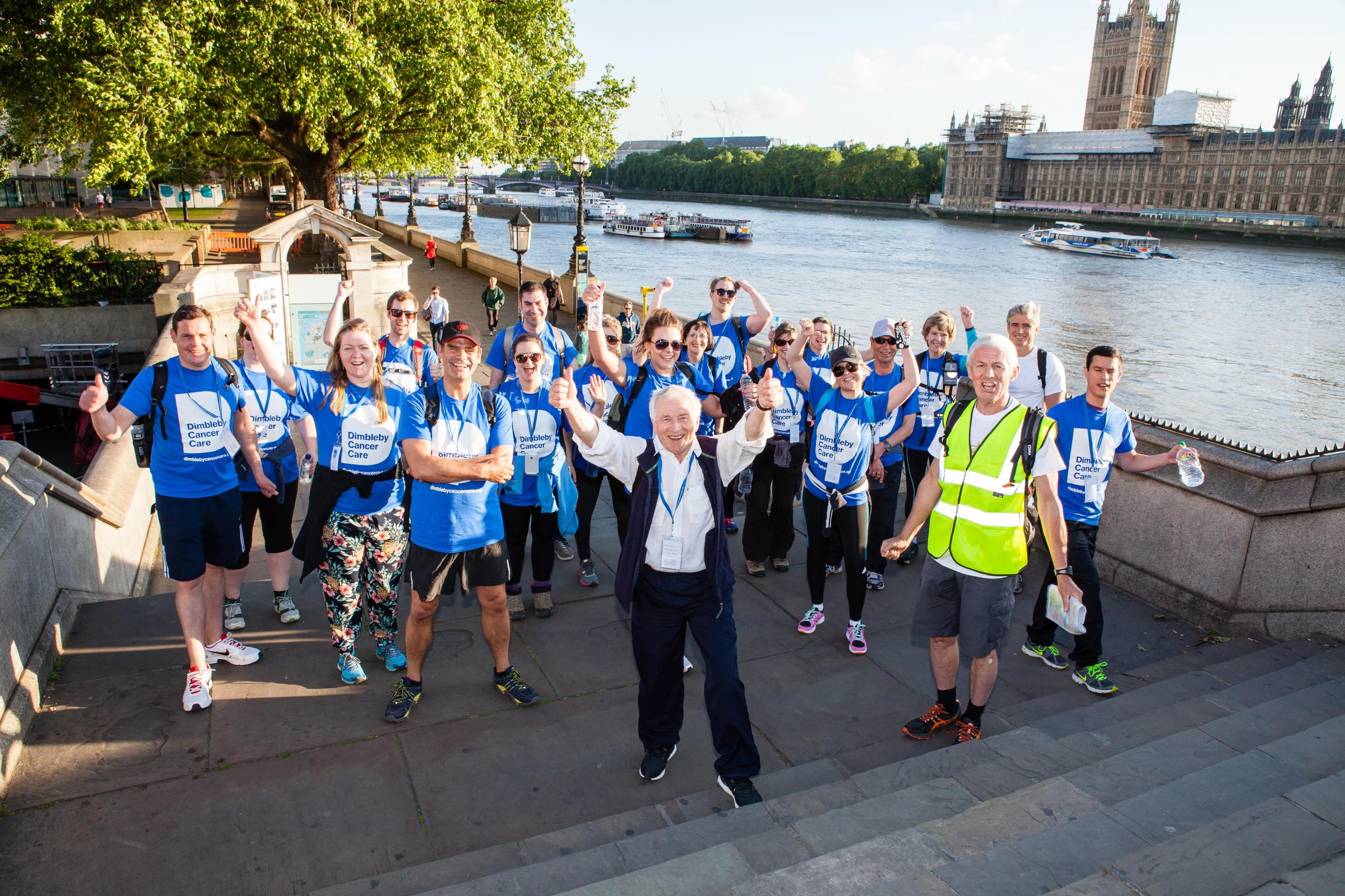 The 71-year-old is organising the night walk on June 10 for the Dimbleby Cancer Care charity after the success of last year's event, which raised £97,000