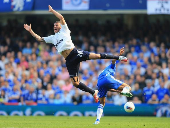 Deciding their fate: Chelsea could yet send Tottenham Hotspur's season tumbling to the turf