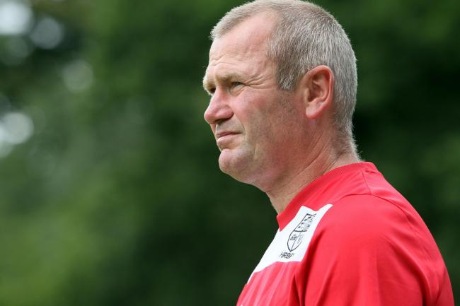 Furious: Hampton boss Alan Dowson was not happy with his side's FA Cup exit on Saturday