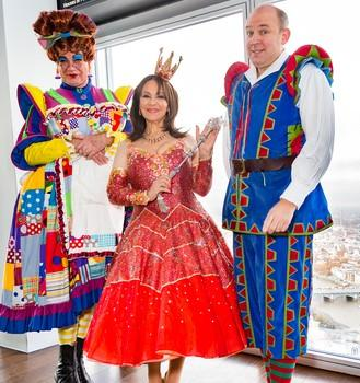Tim Vine (right) with Dick Whittington co-stars Matthew Kelly and Arlene Phillips