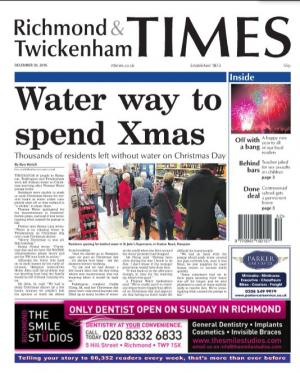 Richmond and Twickenham Times: The e-newspaper is your weekly copy of your favourite local newspaper delivered to your inbox. Sign up for free here >
