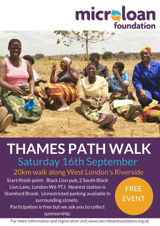 Microloan aim to raise £15,000 for charity in Thames Path Walk