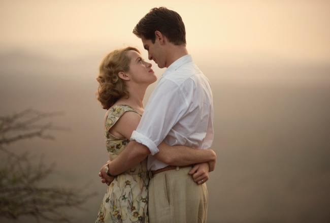 Andrew Garfield and Claire Foy in Breathe. Credit: BFI