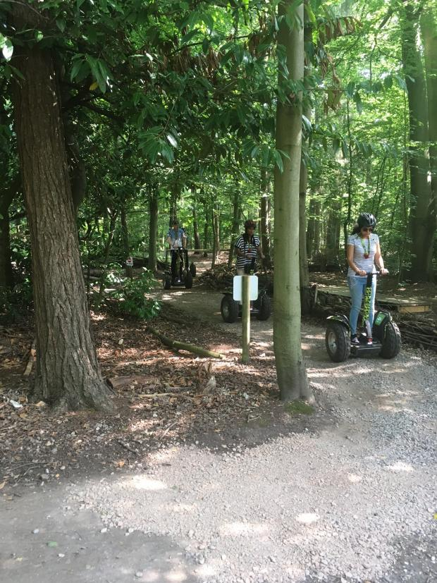 Richmond and Twickenham Times: Forest Segway through picturesque Black Park in Buckinghamshire