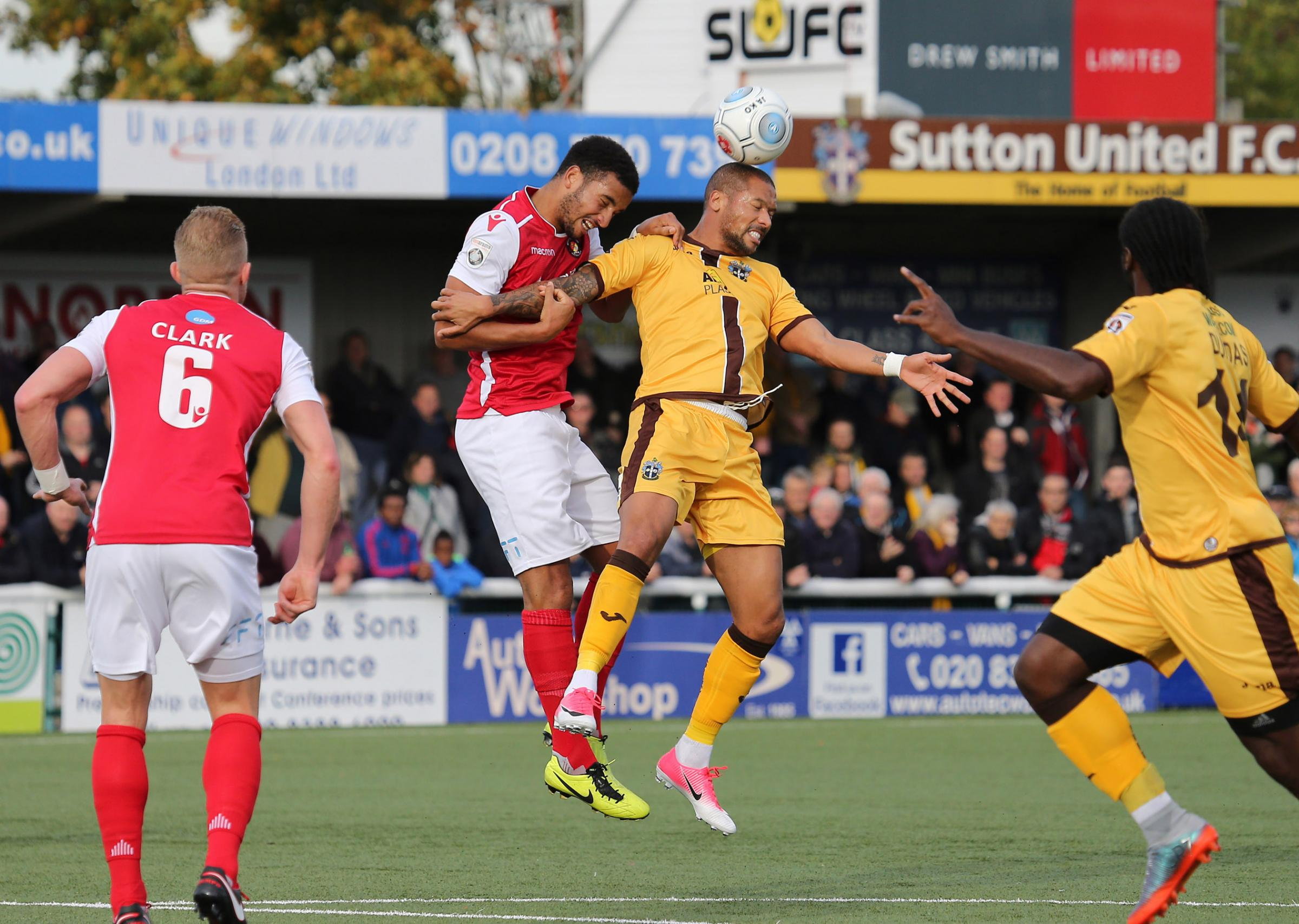 Sutton United's home match against Aldershot Town on April 28 has been made all-ticket. Picture: Paul Loughlin