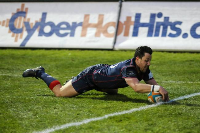 London Scottish score a try in the televised derby clash with Richmond. PRiME Media Images