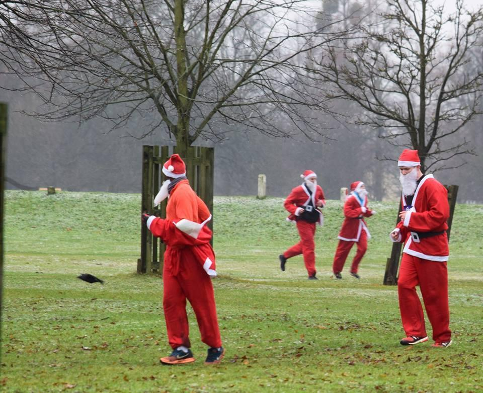 Christmas Run Park.See The Pictures As Santas Take On The Father Christmas Fun
