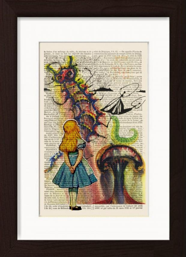 Richmond and Twickenham Times: Handmade at Amazon Alice In Wonderland Print by Dictionary Page Print, £18