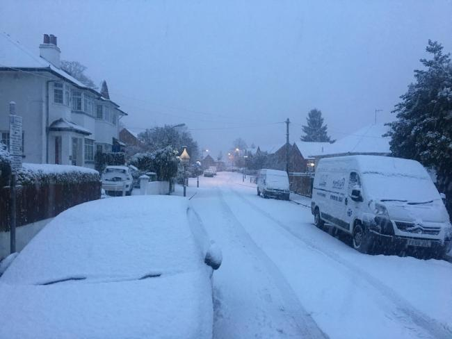 A weather warning has been issued for snow