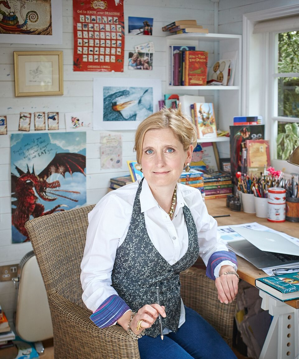 Cressida Cowell, author-illustrator of How To Train Your Dragon