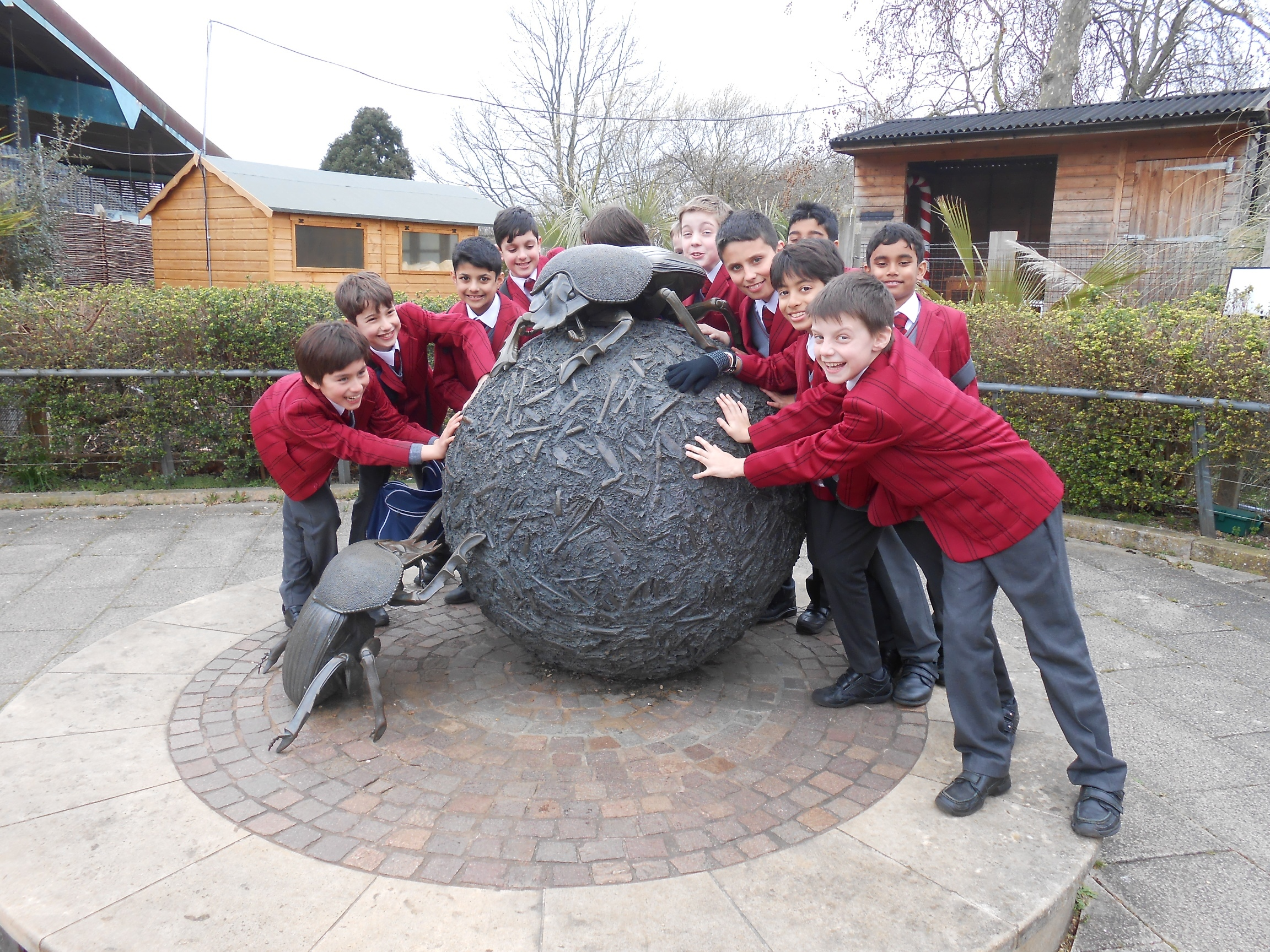Year 6 pupils on their recent trip to London Zoo