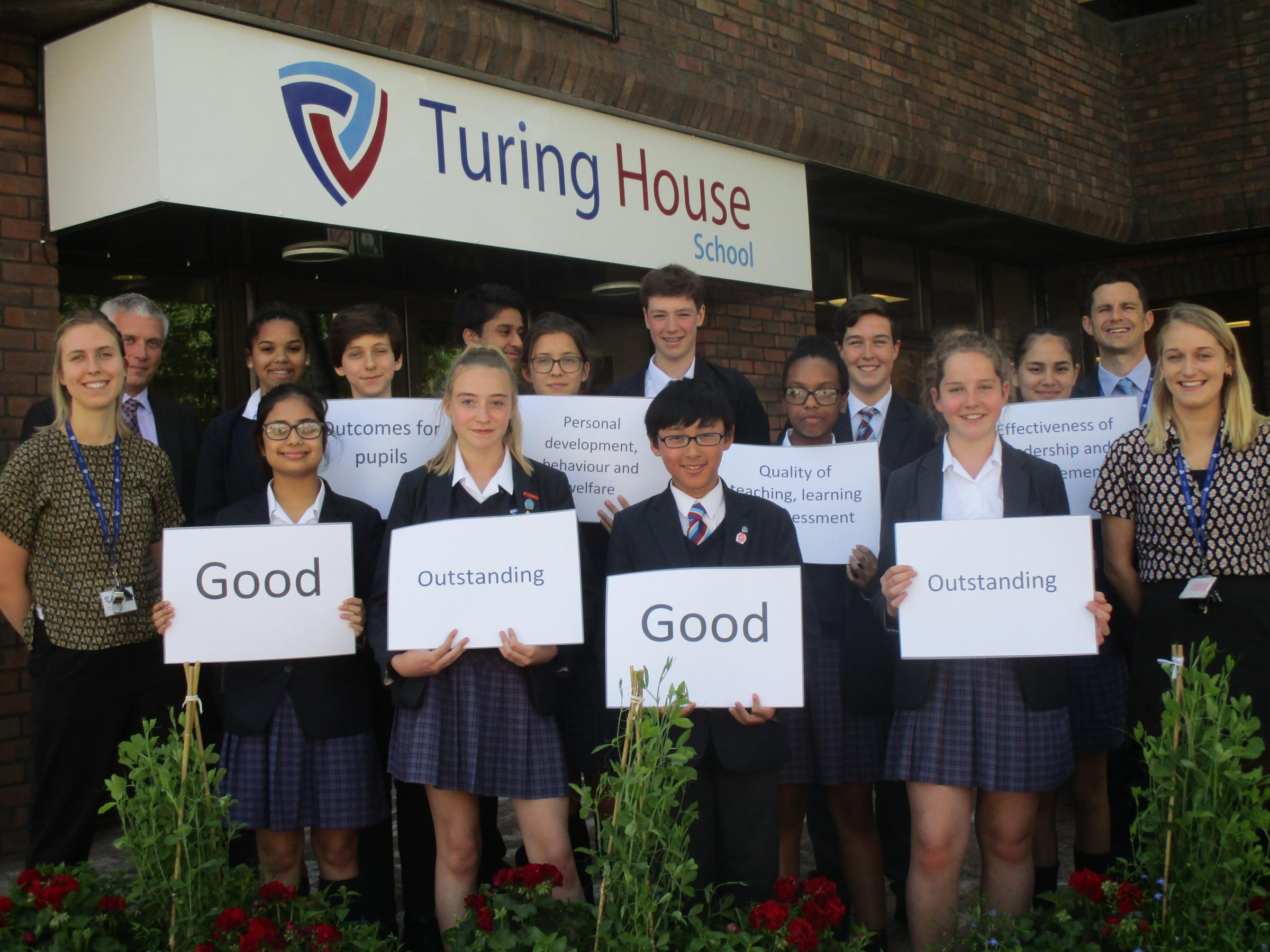 Proud: Turing House School in Teddington celebrates Ofsted report
